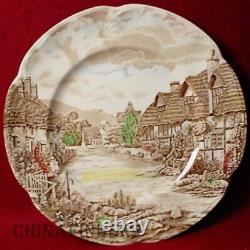 JOHNSON BROTHERS china OLDE ENGLISH COUNTRYSIDE Set of 12 Dinner Plates 10