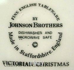 JOHNSON BROTHERS china VICTORIAN CHRISTMAS Set of 12 Dinner Plates 10-1/4
