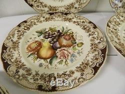 Johnson Bros Windsor Ware Harvest Fruit 10 3/4 Dinner Plates Set of 4