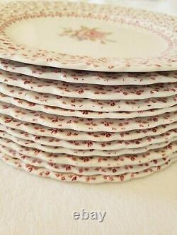 Johnson Brothers ROSE BOUQUET Set of 12 Vintage Dinner Plates 10 Diameter