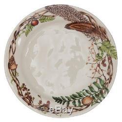 Juliska Forest Walk Dinner Plate, Party Plate, and Mug Set of 4