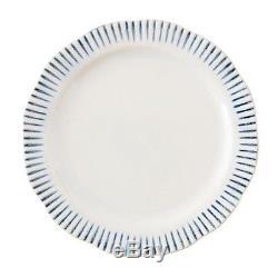 Juliska Wanderlust Sitio Stripe Indigo Dinner Plate Set of 4