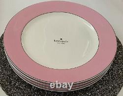 Kate Spade LENOX Rutherford Circle Dinner Plates (Set of 4) Blush Pink NEW