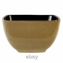 Kitchen Dinnerware Set 16 Piece Stoneware Square Dinner Dishes Plates Bowls Mugs