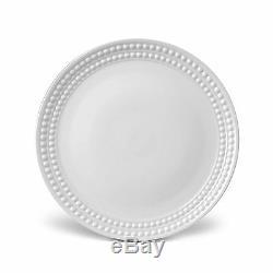 L'Objet Perlee Dinner Plate, White Set of 4