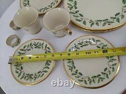 LENOX HOLIDAY DIMENSION 12 Piece Dish Set CHRISTMAS DINNER Plate Service for 2