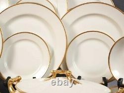 LIMOGES France PL Limoges M. Redon Dinner Set Plates Bowls Tureen GOLD GILD