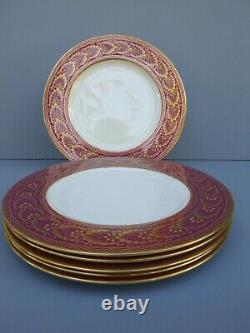 Lenox 1830 W323R Dinner Plates Gold Leaf 6pc Set