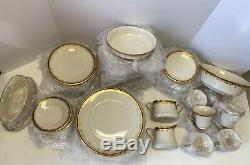 Lenox China Eclipse 70 Piece Collection Dinner Plate Tea Set
