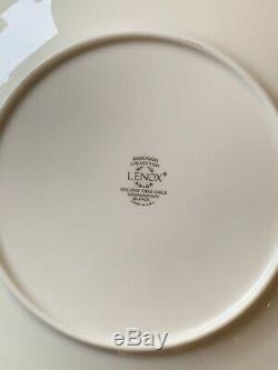 Lenox Dimension Collection Tree Holiday Set Of 4 Plates Gold Trim Dimension 8