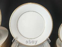 Lenox Eternal 48 Piece 12 Place Settings Dinner Salad Bread Plate Cups Gold Rim