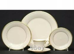 Lenox Eternal China Set, 24K border, service for 12 plus serving dishes