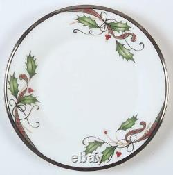 Lenox Holiday Nouveau Platinum White Dinner Plate Set of 4 New 1St Q