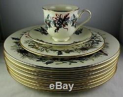 Lenox Winter Greetings 7 Dinner Plates, 1 Salad Plate + 1 Cup & Saucer Set