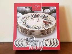 Lenox Winter Greetings Christmas Dinner Plate Set Of 6
