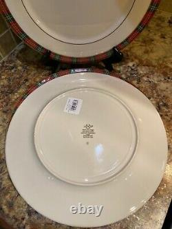 Lenox Winter Greetings Plaid Dinner Plate Set Of 4 New