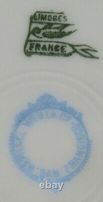 Limoges France Dinner Set Gold Green Orange 45 Pieces Plates Bowls Cups Ramekins