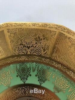 Limoges France gold encrusted Presentation or Dinner plates set of 12