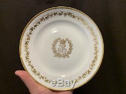 Louis Philippe Sevres Service Des Princes Dinner Plates Set of 14 9 1/8 Dia