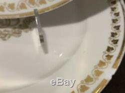 Louis Philippe Sevres Service Des Princes Dinner Plates Set of 8 Gold AS IS