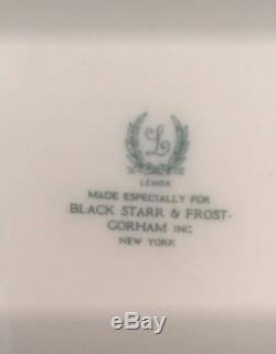MINT Set Of 12 Lenox Antique Dinner Plates Black Starr Frost Gorham 1929-30
