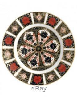 MINT (Set of 8) Royal Crown Derby, Old Imari Dinner Plates