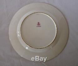 MINTON For Ovington Brothers H2193 SET 6 SERVICE DINNER PLATES Gold Wreaths