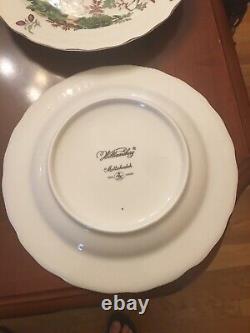 MOTTAHEDEH WILLIAMSBURG CHELSEA BIRD VISTA ALEGRE 10 DINNER PLATES Set Of 4