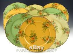MacKenzie Childs Camp ENAMEL FLOWER 12 DINNER PLATES CHARGERS Set of 9