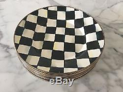 Mackenzie Child's Courtly Check Enamel Set of 6 Dinner Plates
