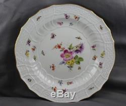 Meissen Kaiser Wilhelm II Hofservice Dinner Plates 1893/1904 Insects Bugs Set/6