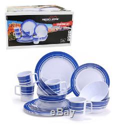 Melamine Camping Set Outdoor Boat Caravan Picnic Dining Dinner Plate Cups Party