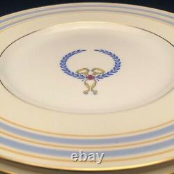Mintons Wreath & Ribbon Dinner Plates Set of 6 England 9 Antique