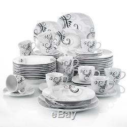 Modern Kitchen Dinnerware Dinner Set Plates Bowls Tableware Dining Service Set