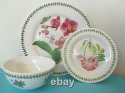 NEW 12 SET PORTMEIRION Melamine Plates Dinner Salad Bowl EXOTIC Botanic Garden