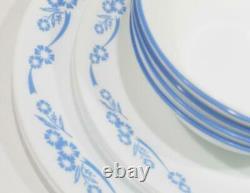 NEW 12-pc Corelle CORNFLOWER BLUE DINNERWARE SET Dinner Lunch PLATES 18-oz BOWLS