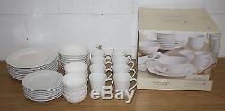 NEW 39 Piece Set of Sonoma Life + Style Horizon Dish Set, White Dinner Plates
