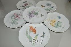 NEW Lenox 18 PC SET for 6 Butterfly Meadow Dragonfly Dinner Salad Plates Mugs