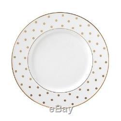 NEW Lenox 8 Pc SET DINNER + SALAD Plate s Kate Spade LARABEE ROAD GOLD