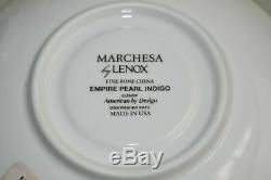 NEW MARCHESA COUTURE LENOX Empire Pearl Indigo Fine China 5 piece place setting