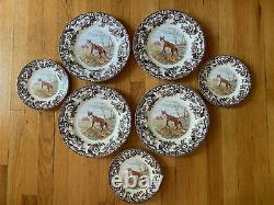 NEW Spode Woodland Fox Dinner & Salad Plates Set Lot