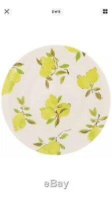 NWT Kate Spade Lemon 12 PC Melamine Dinnerware Set Dinner & Salad Plates & Bowls