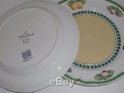 NWT VILLEROY & BOCH FRENCH GARDEN Fleurence DINNER PLATES SET OF 8 GERMANY