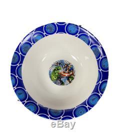 New Marvel Avengers 3pc Blue Kids Ceramic Bowl Plate Mug Dinner Or Lunch Set
