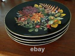 New Williams Sonoma Thanksgiving Fall Harvest Bloom 10.5 Dinner Plates Set of 4