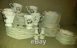 Nikko Orchard 50pc Set Dinner salad plates Soup Salad Bowls Cups SERVICE FOR 8