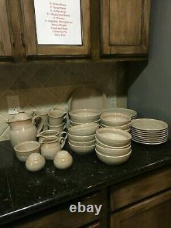 Noritake Stoneware Sunset Mesa 8663 Settings Plus Serving Pieces