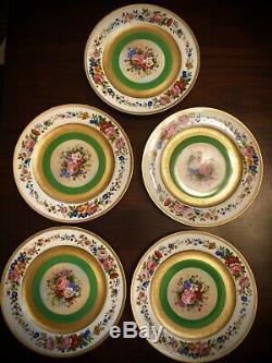 Ovington Brothers Fabrique Limoges 10.5 Dinner Plates Set 5 France Depose