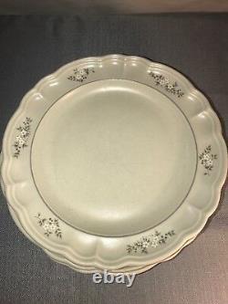 PFALTZGRAFF Heirloom 56 Piece Retired Dinner Plate Glassware Gray White Set