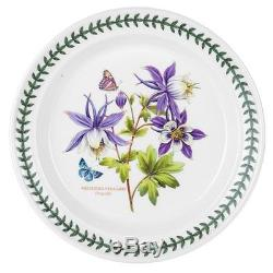 Portmeirion Exotic Botanic Garden Dinner Plate Set with 6 Assorted Motifs New